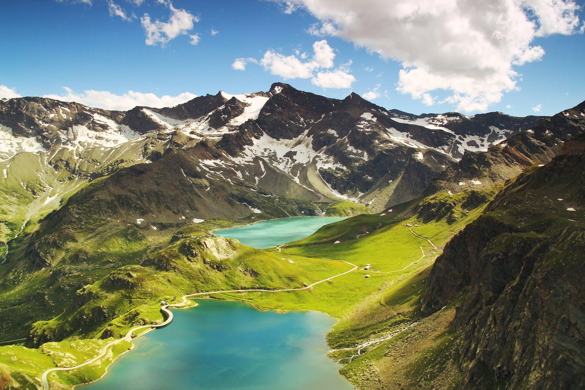 aerial alpine ceresole reale desktop backgrounds